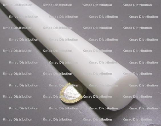 48.0 homopolymer Delrin Natural 6 Plastic Round Rod Acetal