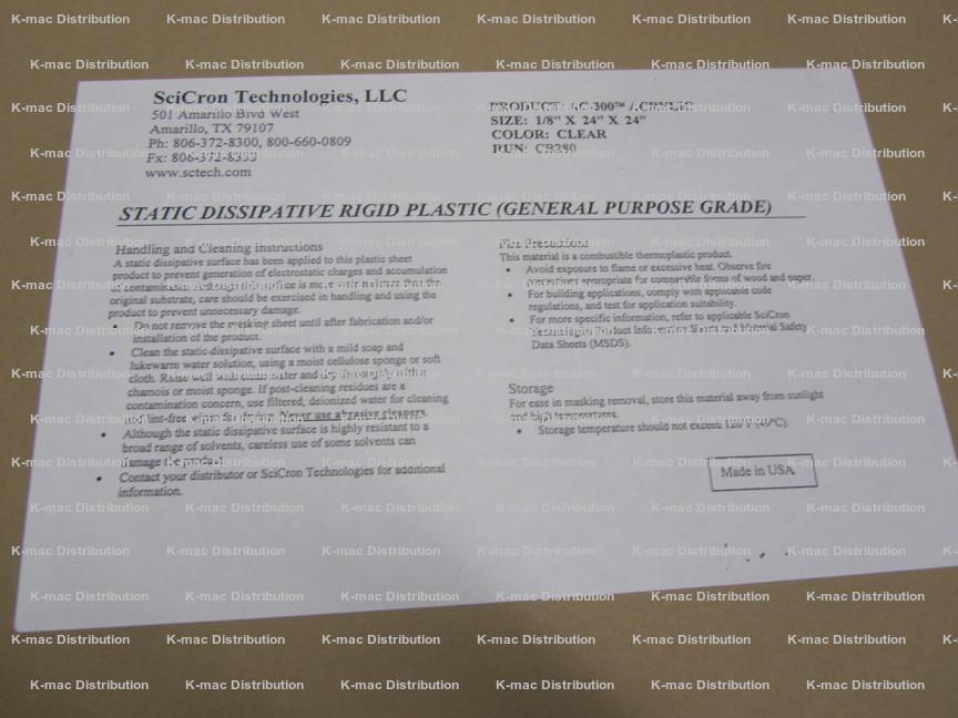 Acrylic Sheets, Plexiglas, Acrylite, Optix, Antistatic